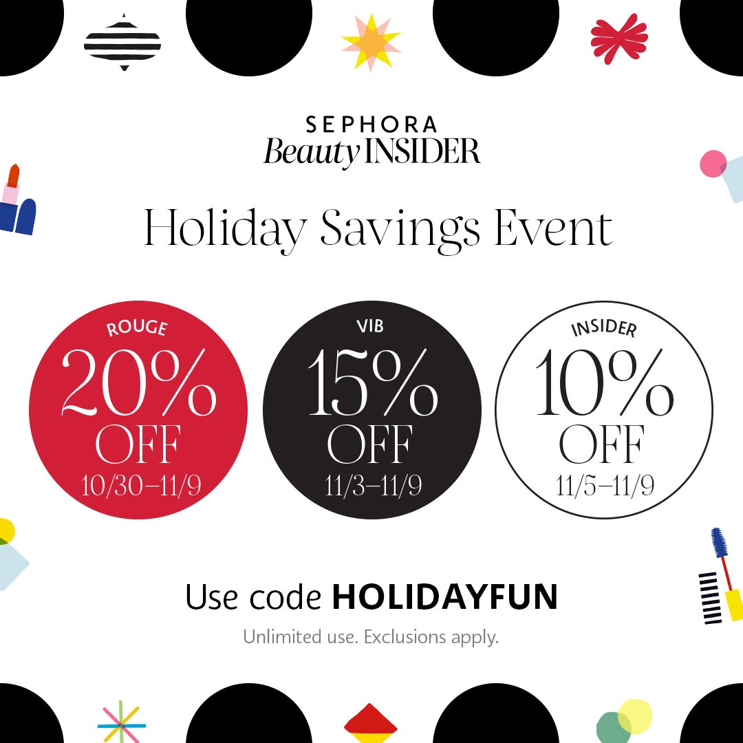 Sephora's Holiday Saving Event!